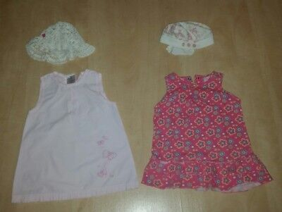 Baby Sommersachen Gr.62/68 Body Tshirt Shorts Kleid Leggings Socken Hut 38 Teile - 100% Baumwolle Kleid Socken