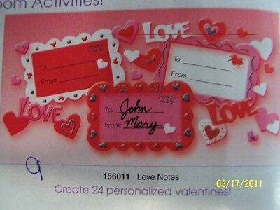 Valentine's Day Holiday Party Favor Game Craft Heart Foam Love Notes Kit