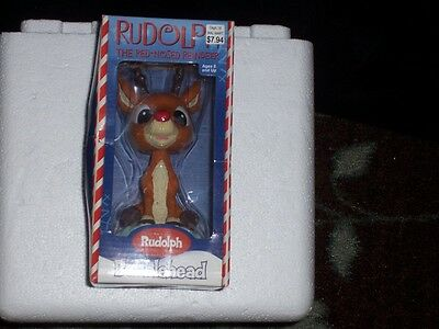 Rudolph Bobblehead NIB The Red-Nosed Reindeer nodder Rudolph Collector Series