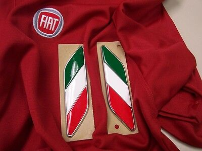 Cinquecento Fiat 500 red white green fender emblem badge Mopar 82212811 part
