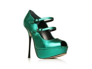 NEW KURT GEIGER CARVELA £150 GREEN PENCIL HEEL STILETTO  SHOES..UK 6   EU 39