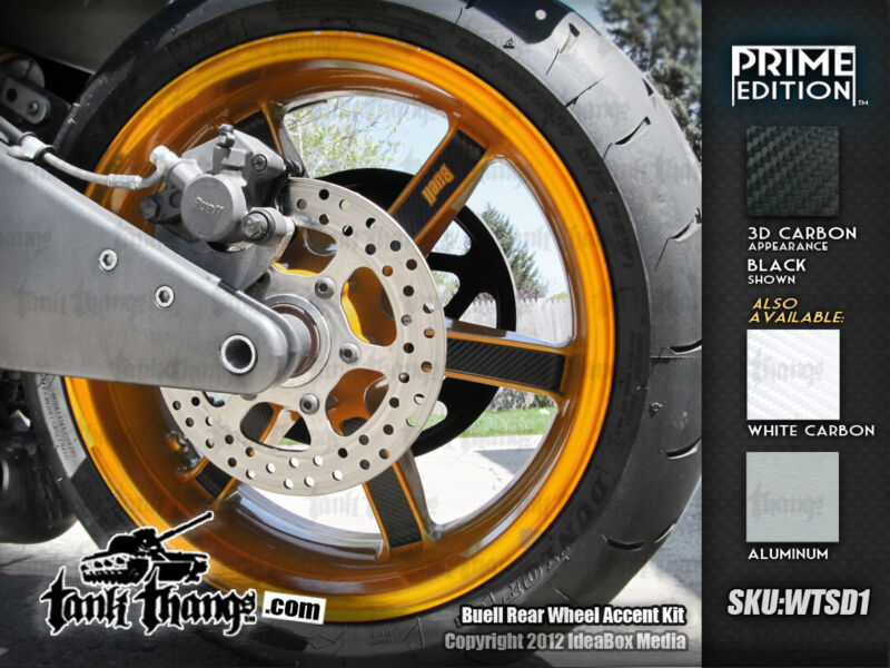Buell 02-10 XB9 XB12 1125 Lightning Firebolt Wheel Accent Kit carbon aluminum