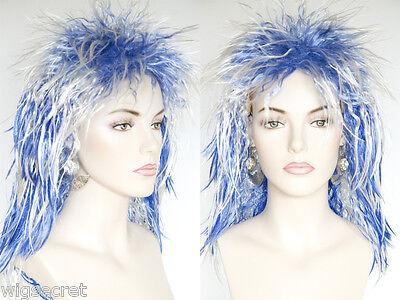 Fun Costume Party Flamboyant Neon Colors Medium Short Straight Wavy Wigs