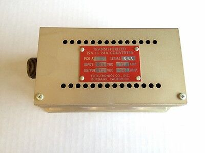 PC6A 12 To 24 Vdc Transistorized Power Converter Flite Tronics PC-6A (FD612S)