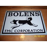 "1- 4"" X 6"" BOLENS FMC CORP. (New Black and White) Vinyl Sticker"