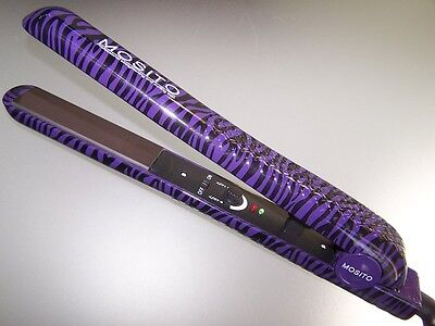 MOSITO CeramicFlat Iron Nano Ionic Hair Straightener BRAND NEW zebra PURPLE