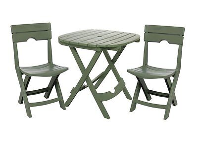 Folding Outdoor Resin Table Chairs Set Dining Patio Furniture Garden Bistro Cafe