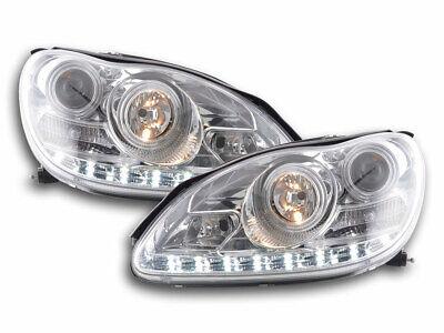 Scheinwerfer Set Daylight LED TFL-Optik für Mercedes S W220 Bj. 02-05 chrom