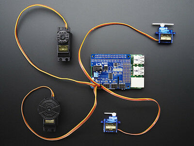 Adafruit 16-Channel PWM / Servo Motor HAT Raspberry Pi Model B+/A+ Robot Shield