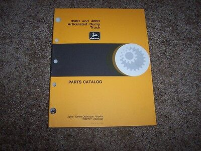 John Deere 350c 400c Articulated Dump Truck Parts Catalog Manual Book Pc2777