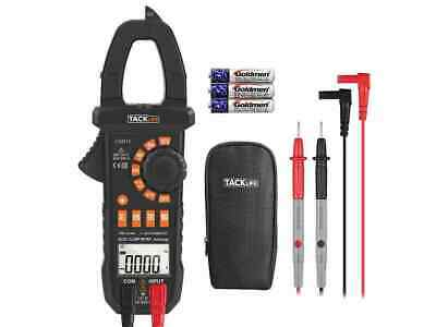 Tacklife Cm01a Digital Acdc Clamp Meter Auto-ranging Multimeter 4000 Counts