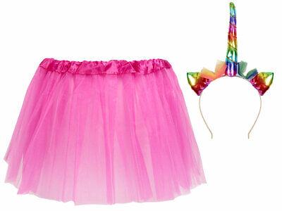 Tütü Spaß Outfit für schamlose Männer (Kv-175) Einhorn Haarreif, Tüllrock-Pink