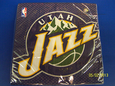 Utah Jazz NBA Pro Basketball Sports Banquet Party Paper Luncheon Napkins