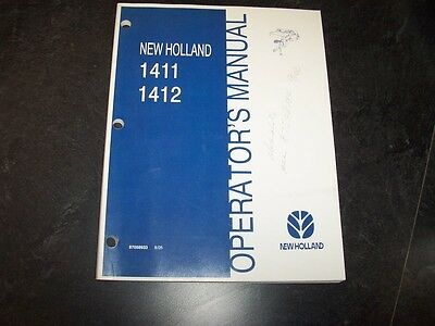 New Holland 1411 1412 Discbine Disc Mower Owner Operator User Guide Manual