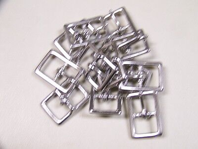 LEATHER CRAFT BUCKLES~# 121 BUCKLE~STAINLESS STEEL~3/4 INCH SIZE ~~(12) QUANTITY