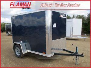 Cross 5' x 8' Enclosed Cargo Trailer with Ramp Door!
