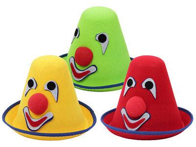 Clown Hut Karneval Fasching Partyhut Karnevalshut Clowns Kostüm Minihut  - Clown Hut