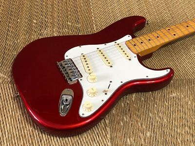 FENDER JAPAN ST 57 CAR (candy apple red) body is unknown rare useful EMS F/S*