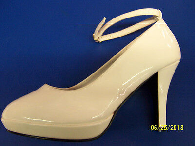 CONTESSA Shoes White Mary Jane Pumps Dress Up Halloween Adult Costume Accessory