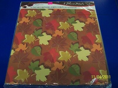 Autumn Leaves Thanksgiving Fall Party Paper Placemats Place Mats Decorations