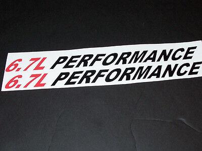 6.7L PERFORMANCE (pair) Hood vinyl sticker decals Ram 2500 3500 f250 F350 Decal