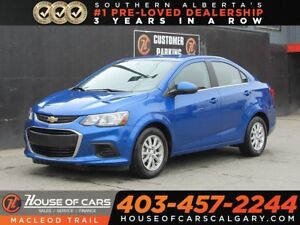 2017 Chevrolet Sonic LT Auto/Back up Cam/Heared seats/FWD Seadn
