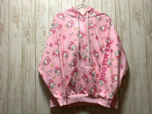 Sanrio My Melody Strawberry Pullover Hoodie Pink Size L Kawaii Brand New