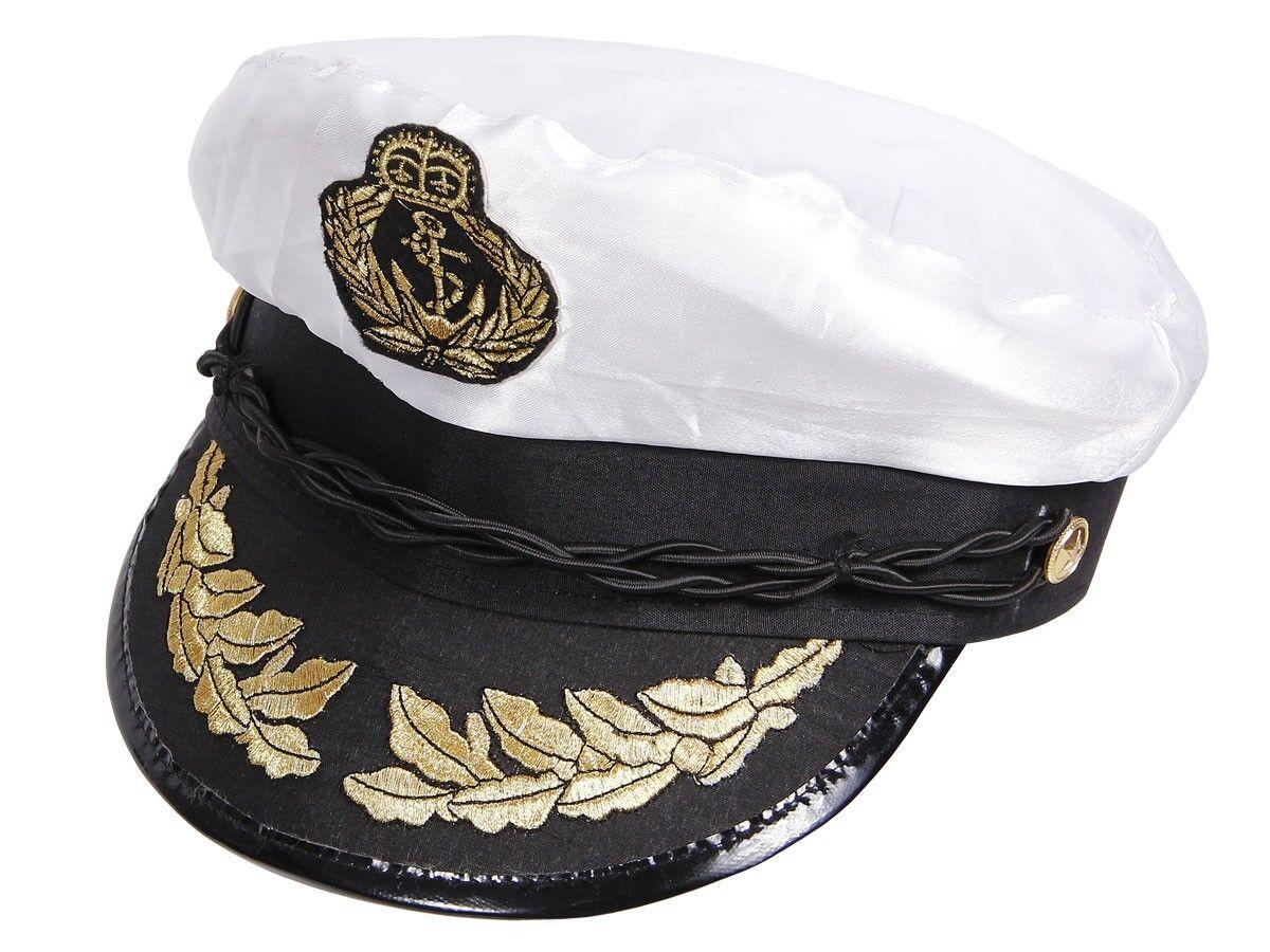Matrosen-Mütze Kapitänsmütze Segler Hut Seemann-Kostüm Fasching Karneval 177 NEU