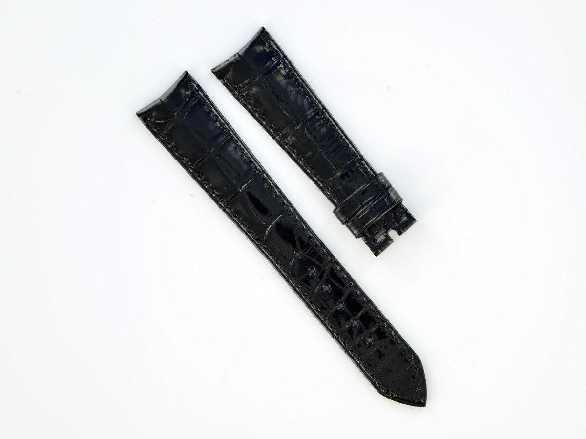 Rolex Lederband Schwarz Hochglanz 20/16 mm vom Uhrencenter Berlin 17719-14
