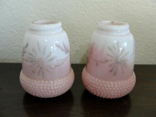 Antique Hobbs Brockunier & Co Art Glass Salt Shaker Acorn Decorated