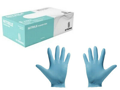 100 Count Blue Nitrile Latex-Free Gloves by Strong, Size: