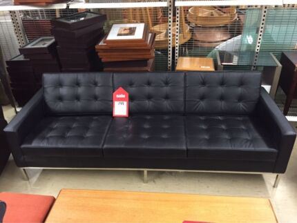 EX DISPLAY 3 SEATER SOFA REPLICA (BLACK) Logan Central Logan Area Preview