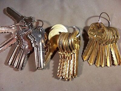 3 - Sets Yale Y1 Schlage C1 Depth Keys 0-9 And Kwikset 1-7  Locksmith