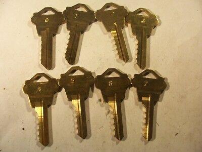 1 Sets  Weslock 0 - 7 Depth Keys Locksmith