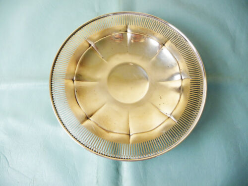 """Antique Sterling Silver Footed Pierced PLATE 9""""diameter 175g"""