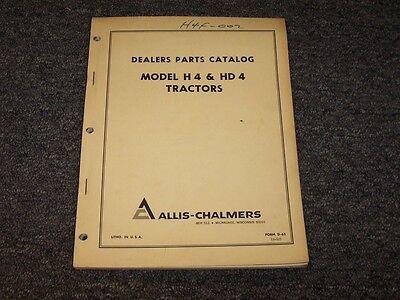 Allis Chalmers H4 Hd4 Dozer Crawler Tractor Original Parts Catalog Manual Book