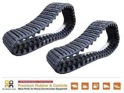 2pc Rubber Track 380x101.6x42 Cat 247b Skid Steer