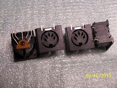 DIN5 PC Mount Female connector, MIDI right angle DIN 5 pin QTY 1 (Mount Female Connector)