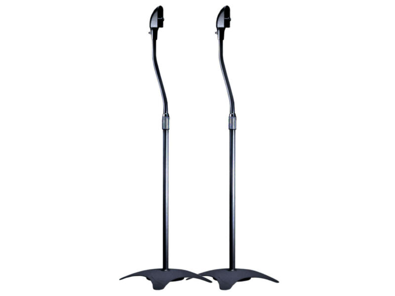 Surround Sound Speaker Stands Mounts Bose Cinemate -Black ( 1-Pair)