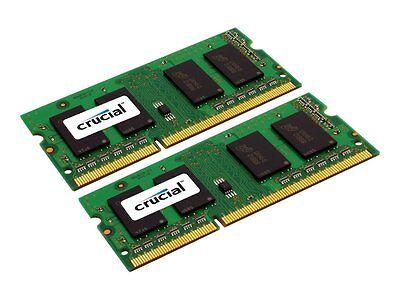 Crucial 16GB Kit 2x 8GB DDR3 DDR3L 1600 MHz PC3-12800 Sodimm Memory Apple MAC