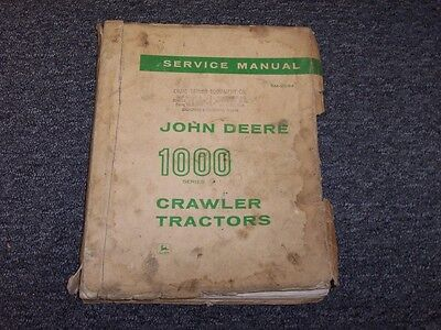 John Deere 1000 1010 Crawler Tractor Shop Service Repair Manual Guide Sm2034