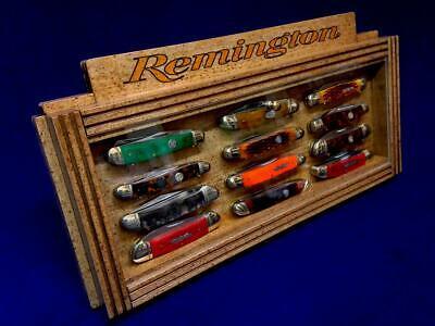 Remington Knife Display Collectors Vintage Pocket Knives Counter Top Case