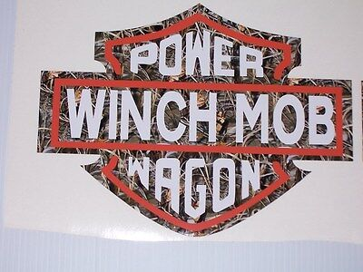 Real Tree M4 Camo Power Wagon Winch Mob Window or Bed side Decals Sticker Decal