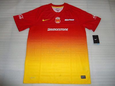 Team Morelia Mens Yellow/Red Official Soccer Jersey Nike Size L 2013 Home image