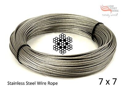A coil of 7x7 Stainless Steel Rope