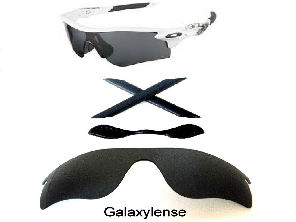 4e1fb07f26 Galaxy Replacement Black Lenses + Rubber Kits For Oakley Radarlock Path