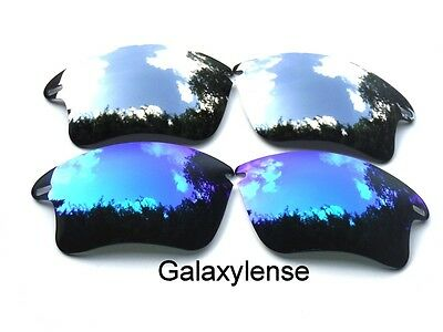 Galaxy Replacement Lens For Oakley Fast Jacket XL Blue&Titanium Sunglasses 2Pair, used for sale  Shipping to India