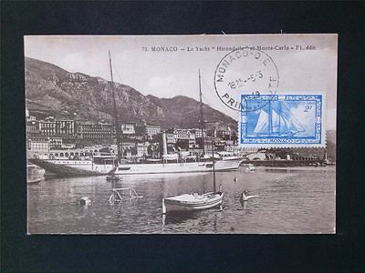 MONACO MK 1949 JACHT HIRONDELLE SCHIFF MAXIMUMKARTE MAXIMUM CARD MC CM c6742