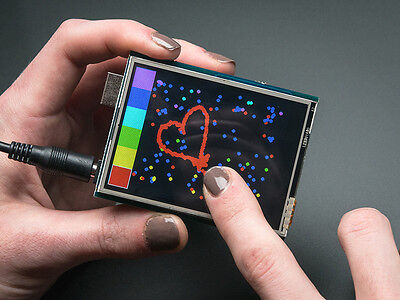"""Adafruit 2.8"""" TFT LCD Display Touch Screen Arduino Shield w/Resistive Touch"""