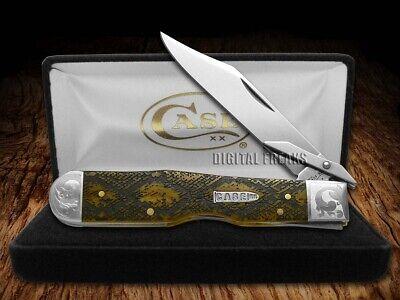 Case xx Cheetah Knife Diamondback Antique Bone 1/200 Stainless Pocket Knives